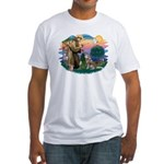 St Francis #2/ S Husky #2 Fitted T-Shirt