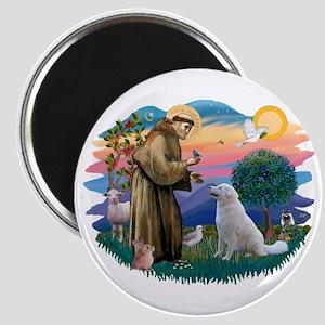 St Francis #2/ Kuvacz Magnet