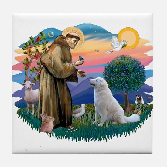 St Francis #2/ Kuvacz Tile Coaster