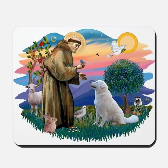 St Francis #2/ Kuvacz Mousepad