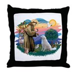 St Francis #2/ Kuvacz Throw Pillow