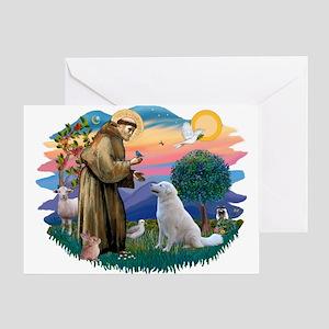 St Francis #2/ Kuvacz Greeting Card