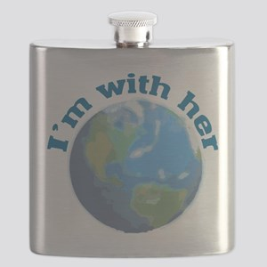 I'm with her planet Earth Flask