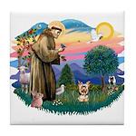 St Francis #2/ Yorkie #17 Tile Coaster