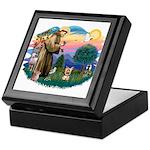 St Francis #2/ Yorkie #17 Keepsake Box