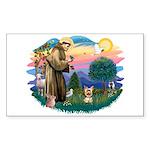 St Francis #2/ Yorkie #17 Sticker (Rectangle)