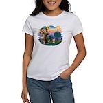 St Francis #2/ Yorkie #17 Women's T-Shirt