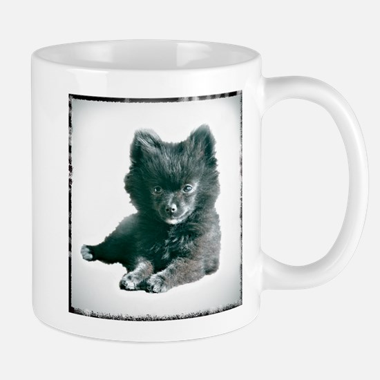 Adorable Black Pomeranian Puppy Mug