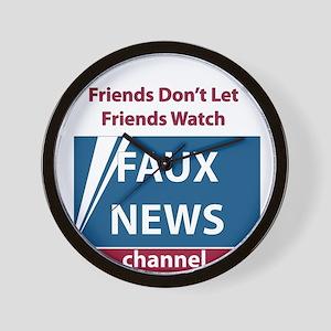 Fox (Faux) News Wall Clock