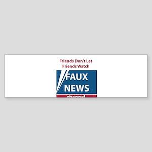 Fox (Faux) News Sticker (Bumper 10 pk)