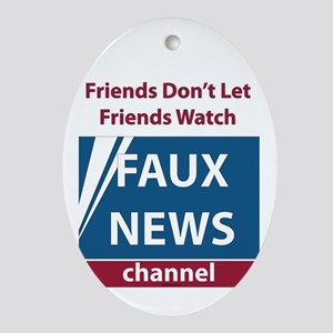 Fox (Faux) News Ornament (Oval)