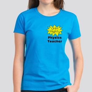 Physics Teacher Pocket Image Women's Dark T-Shirt