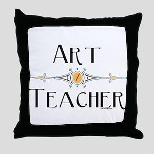 Art Teacher Line Throw Pillow