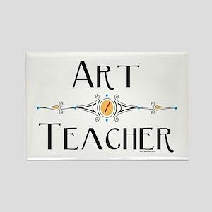 Art Teacher Line Rectangle Magnet