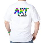Art Teacher Back Image Golf Shirt