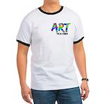 Art Teacher Pocket Image Ringer T