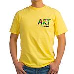 Art Teacher Pocket Image Yellow T-Shirt