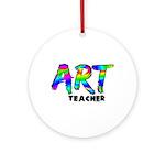 Art Teacher Ornament (Round)