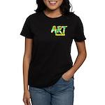 Art Teacher Pocket Image Women's Dark T-Shirt