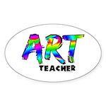 Art Teacher Sticker (Oval 50 pk)
