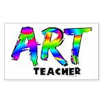 Art Teacher Sticker (Rectangular)