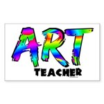 Art Teacher Sticker (Rectangle 10 pk)