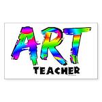 Art Teacher Sticker (Rectangle 50 pk)