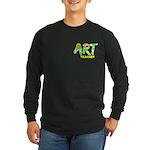 Art Teacher Pocket Image Long Sleeve Dark T-Shirt