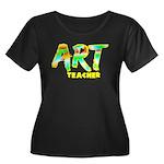 Art Teacher Women's Plus Size Scoop Neck Dark T-Sh