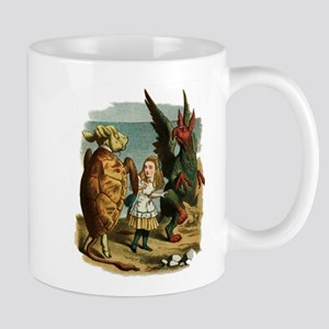Alice, the Gryphon, and the Mock Turtle Mug