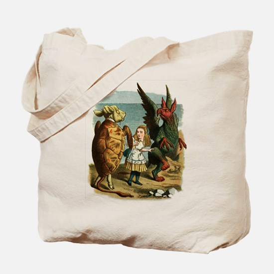 Alice, the Gryphon, and the Mock Turtle Tote Bag