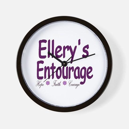 Ellery's Entourage Wall Clock