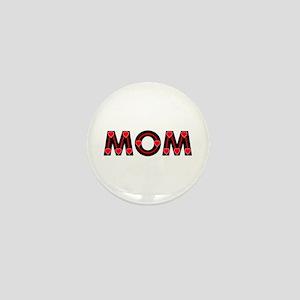 Mom Red Hearts Mini Button