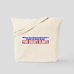 You Create Slaves Tote Bag