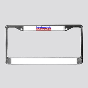 The Second Amendment Is In Pl License Plate Frame