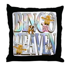 Bingo Heaven Text Animals Throw Pillow