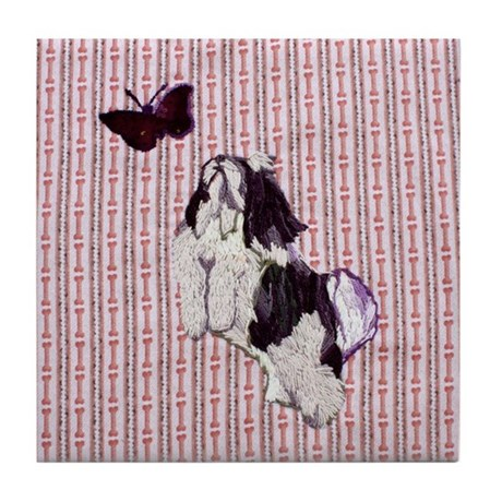 Daisy and the Butterfly Tile Coaster