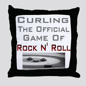 Curling-The Official Game Of Throw Pillow