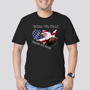 United We Stand Support our t Men's Fitted T-Shirt