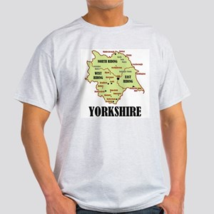 Yorkshire Map Light T-Shirt