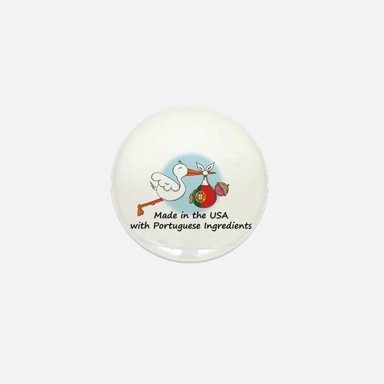 Stork Baby Portugal USA Mini Button