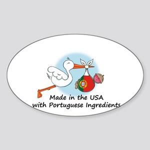 Stork Baby Portugal USA Sticker (Oval)