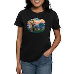 St Francis #2/ Yorkie #13 Women's Dark T-Shirt