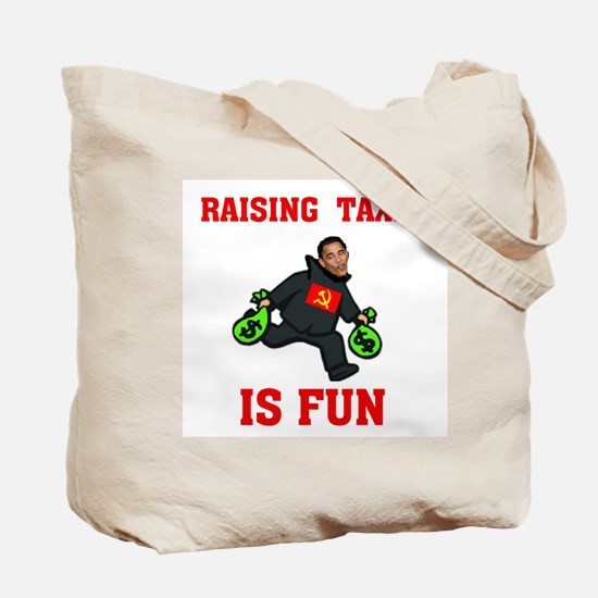 OBAMA'S RAISING INTEREST RATE Tote Bag