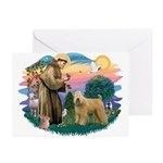 St Francis #2/ Wheaten Greeting Cards (Pk of 20)