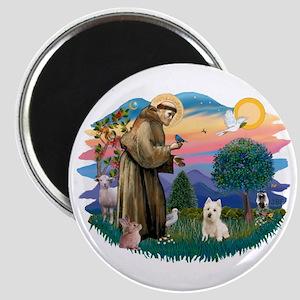 St Francis #2/ Westie Magnet