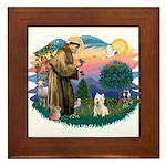 St Francis #2/ Westie Framed Tile