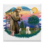 St Francis #2/ Westie Tile Coaster