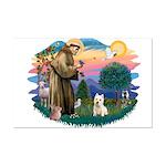 St Francis #2/ Westie Mini Poster Print