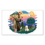 St Francis #2/ Westie Sticker (Rectangle)